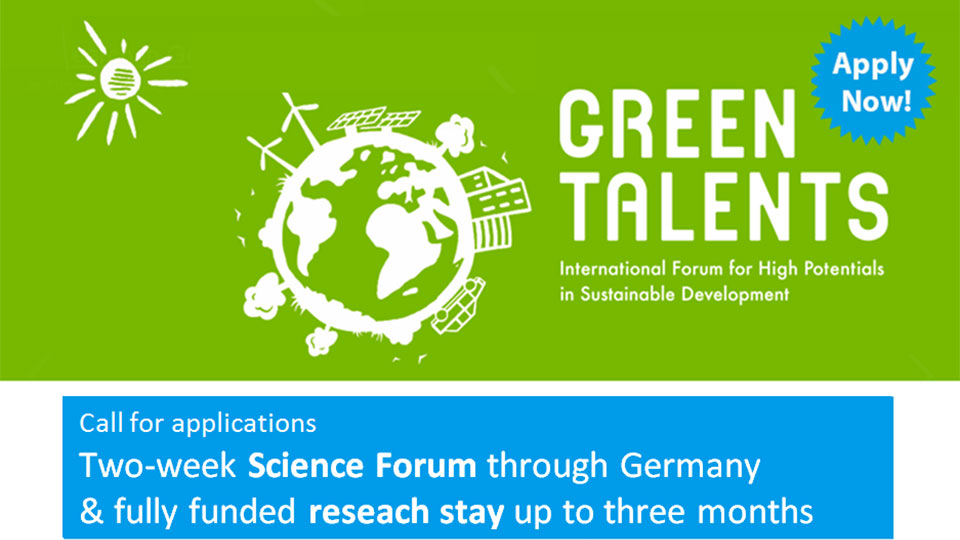 Apply now: Green Talents Award 2018